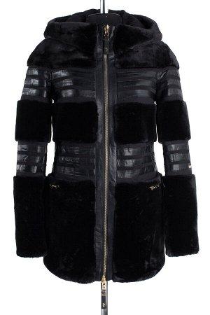 02-1381 Пальто женское утепленное SALE Сукно/Искусственный мех черный