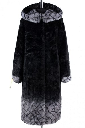 02-1254 Пальто шуба искусственная женская SALE Искусственный мех черный