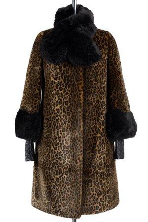 02-0764 Пальто женское утепленное Искусственный мех Леопард