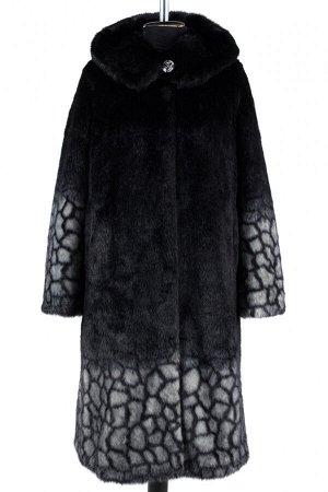 02-1260 Пальто шуба искусственная женская SALE Искусственный мех черно-серый