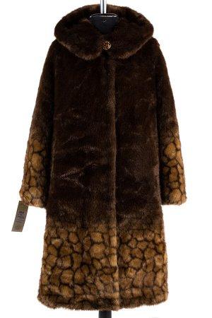 02-1259 Пальто шуба искусственная женская SALE Искусственный мех Янтарь-коричневый