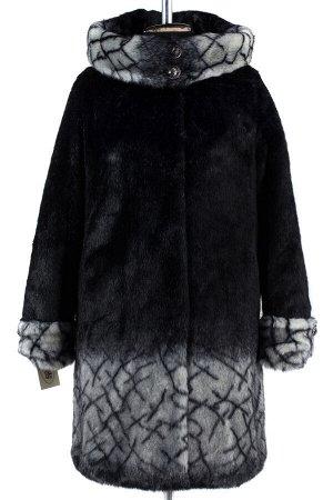 02-1251 Пальто шуба искусственная женская SALE Искусственный мех серо-черный