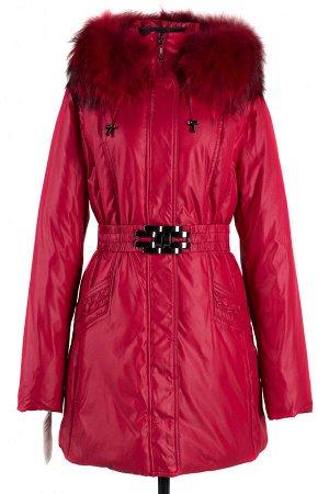 05-1241 Куртка зимняя (пояс) Плащевка красный