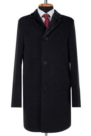 07-0069 Пальто мужское утепленное (рост 182) Кашемир черный