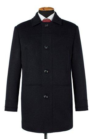 07-0088 Пальто мужское утепленное (рост 176) (синтепон 150) Микроворса/Рубчик navy