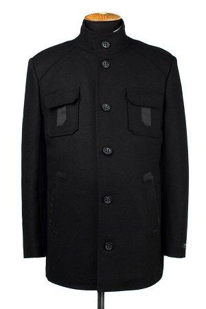 07-0140 Пальто мужское утепленное сукно черный