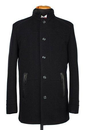 07-0095 Пальто мужское утепленное Кашемир черный