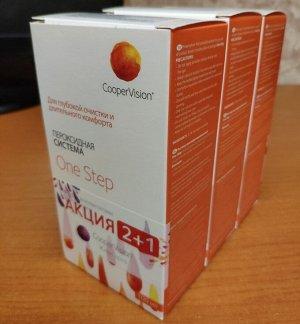 Пероксидный раствор для всех типов контактных линз One Step100*2 + 100мл в подарок