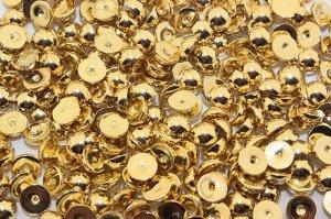 Полубусины под жемчуг (золото) 6 мм в упаковке 100 шт.