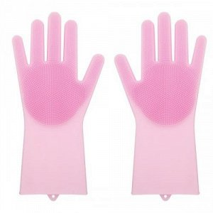 Силиконовые перчатки для мытья посуды Livingenie