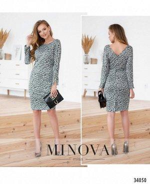 Платье №1499-серый