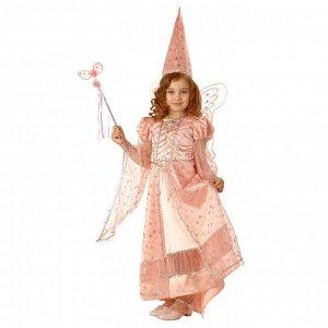 Карнавальный костюм «Сказочная фея», текстиль, размер 30, рост 116 см, цвет розовый