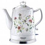 """Чайник электрический 1500 Вт 1,5 л DELTA LUX DL-1239 """"Цветы"""""""