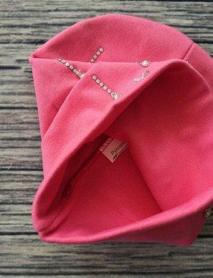 Шапка для девочки. Цвет ярко-розовый.