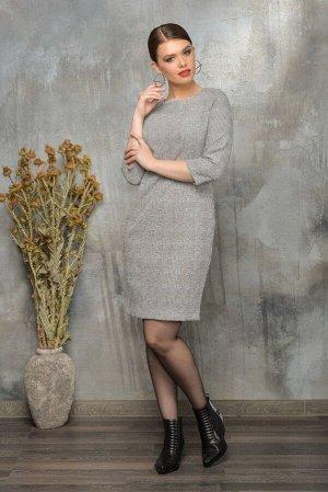 Платье Платье Anna Majewska А012  Состав ткани: Вискоза-39%; ПЭ-59%; Спандекс-2%;  Рост: 170 см.  Облегающее платье-футляр из жаккардовой эластичной ткани с мерцающими пайетками. Овальная горловина о