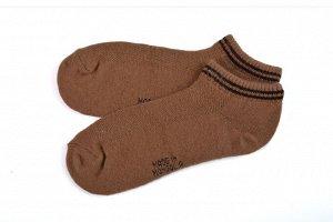 Носки из верблюжьей шерсти коричневые укороченные