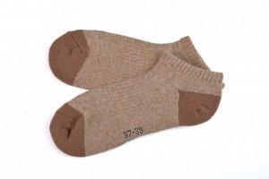 Носки из верблюжьей шерсти бежевые укороченные