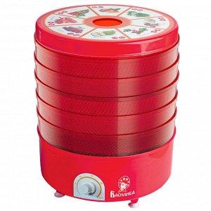 Сушилка электрическая для овощей и фруктов ВАСИЛИСА СО3-520 красная с красными секциями