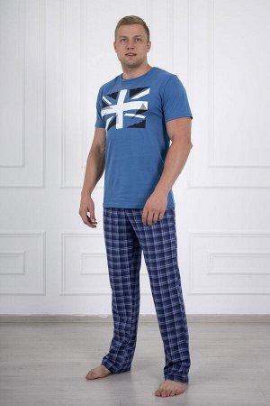 Костюм мужской 678 флаг синий брюки