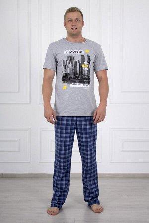 Костюм мужской 682 макс серый брюки