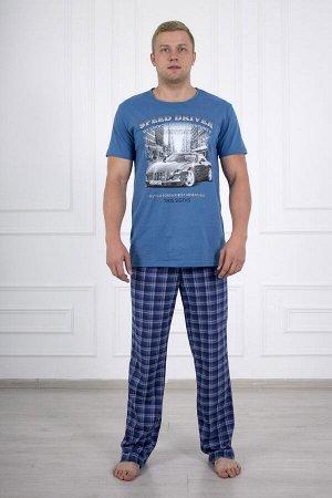 Костюм мужской 680 ралли голубой брюки