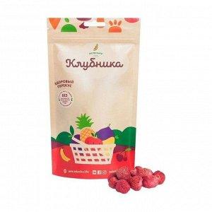Здоровый фруктовый перекус из клубники, зеленика, 20г