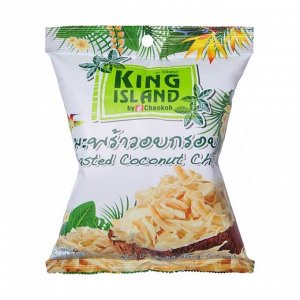 Кокосовые чипсы в ананасовой глазури, king island, 40г