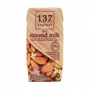 Молоко миндальное с нектаром кокосовых соцветий, 137 Degrees, 180мл