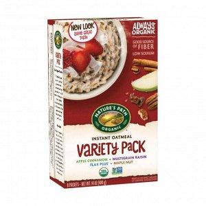 Овсяная каша органическая быстрого приготовления ассорти variety pack hot oatmeal, 400г