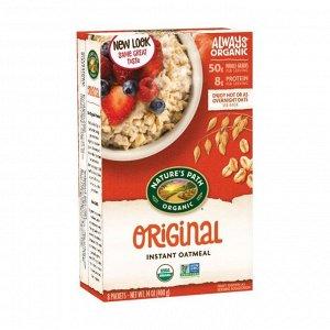 Овсяная каша органическая быстрого приготовления оригинал original hot oatmeal, 400г