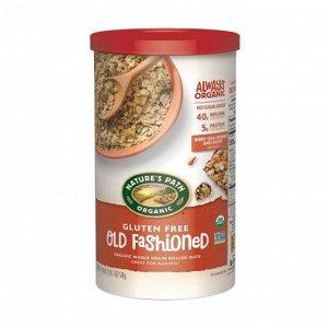 Овсяная каша органическая быстрого приготовления традиционная без глютена (для варки),old fashioned gluten free organic oats, 500г