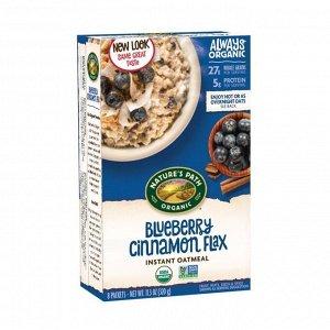 Овсяная каша органическая быстрого приготовления, optimum power® blueberry cinnamon flax, 320г