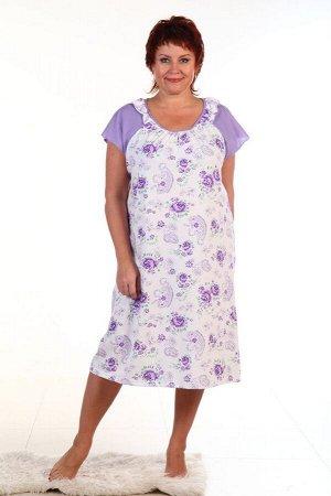 Сорочка женская, фиолетовый