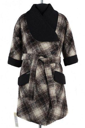 01-5017 Пальто женское демисезонное SALE Букле/Кашемир бежево-коричневый