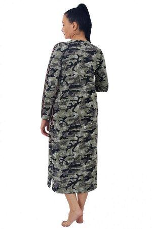 "Платье футер 2-х нитка с лайкрой ""Ингрид милитари"""