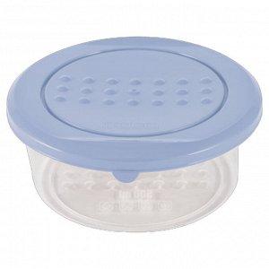 Ёмкость для хранения продуктов круглая 0,5 л PATTERN РТ1098ТГ-26 туманно-голубая