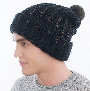 Шапка Шапка. Размер: 57-59. Отворот: шапка с отворотом. Состав: 50% шерсть 50% акрил. Подклад: двойной. Помпон: трикотажный помпон. Толщина: шапка двойная