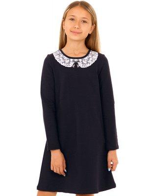 Платье для девочки р.122 на худенькую. Темно-синее