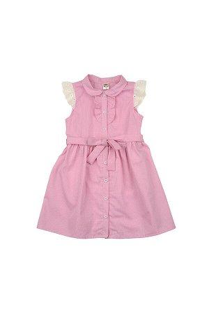 Платье в клетку (98-122см) UD 4563(1)розов кл
