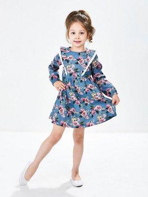 Платье (98-116см) UD 4856(2)син.розы
