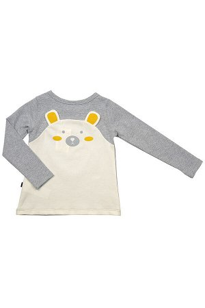 Джемпер (футболка дл.рук) (92-116см) UD 2495(2)серый