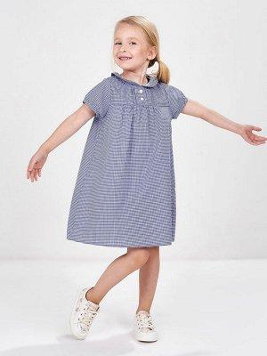 Платье в мелк клеточку(92-116см) UD 3260(1)синий