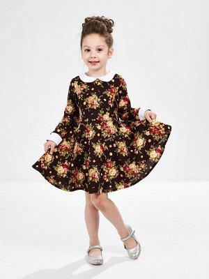 *Платье (98-116см) UD 6158(1)цветы