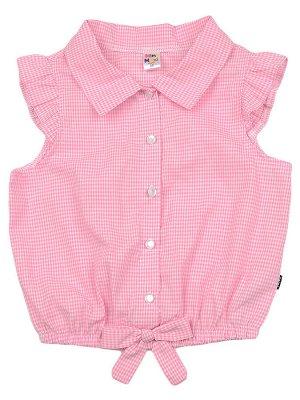 Блузка в розовую клеточку