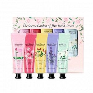 MEDI FLOWER Подарочный набор кремов для рук The Secret Garden Of Five Hand Cream