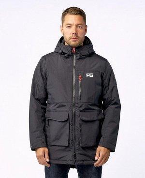 . Черный; Темно-синий; Темно-зеленый; Серый;    Куртка POO 9928 Стильная, комфортная куртка - парка, изготовлена из качественной ветрозащитной ткани с водоотталкивающим покрытием. Четыре нижних боков