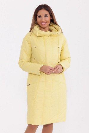 #77249 Пальто Лимонный