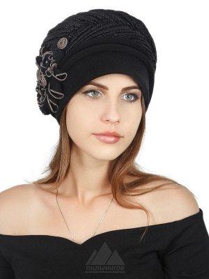 ШапкаИден ЦВЕТА: Черный, Шапка «Иден» с первого взгляда привлекает внимание своим безупречным стилем. Представляем Вам новинку этого сезона, женскую шапочку «Иден», изготовленную из трикотажа, она шик