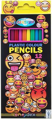 """Карандаши цветные """"Смайлы"""", 12 цветов длина 177, арт.87002"""