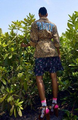 Жакет-ИТАЛИЯ - Vincare leopard print jacket- ИТАЛИЯ - ESSENTIEL ss20 размер -48